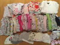 Big bundle of girls clothes aged 0-3 months
