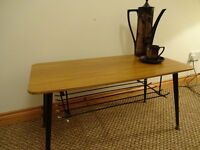 Vintage Retro Teak Veneer Coffee Table