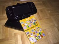 Nintendo Wii U 32GB Black with 2 Games Like New (Super Mario Maker/Zombies)