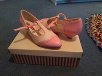 BAIT pink and cream small heel, size 5 OFFERS ACCEPTED