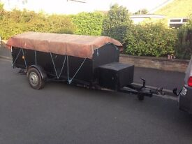 Large Single Axle Braked Covered Box Trailer, OVER 10ft LONG! & New light board. SWAP FOR GIANT BIKE