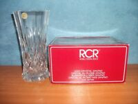 VINTAGE ROYAL CRYSTAL ROCK LEAD CRYSTAL GLASS VASE, BOXED