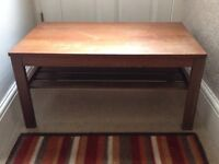 Solid wood coffee table sturdy - will be a great project