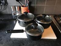 3 Prestige Kitchen Pans with lids