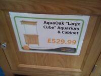 solid oak aquarium , stunning complete set up.