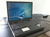 17 inch HP Pavilion dv8000 CPU: AMD Turion 64 1GB windows 7. MS office