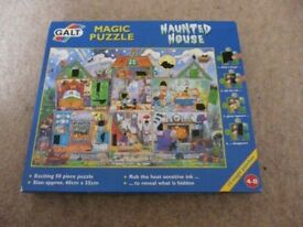 GALT MAGIC HAUNTED HOUSE JIGSAW Age4-8 UK made 50 pieces +hidden pictures IMMACULATE REDUCED AGAIN!