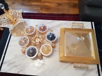 Dry fruit tray and cake plate and sweet tray