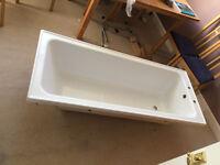 Modern white Cooke & Lewis Shaftesbury Acrylic rectangular bath