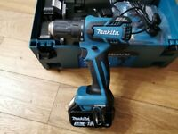 New Makita brushless 18v drill driver 4x3.0Ah batteries, fast charger in MakPac 2