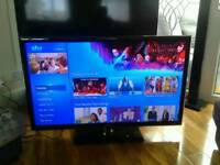 "46"" Samsung LED Smart TV with Samsung DVD Player/Surround Sound unit"