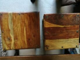 Two Mexican pine coffee tables for sale