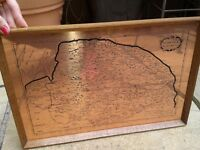 Copper map of Norfolk
