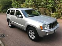 JEEP GRAND CHEROKEE CRD LTD 2006 SILVER FULLY LOADED SAT NAV LONG MOT TEL 07399829782