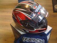 takachi motorbike helmet new size xsmall