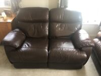 2 x leather Reclining Sofas