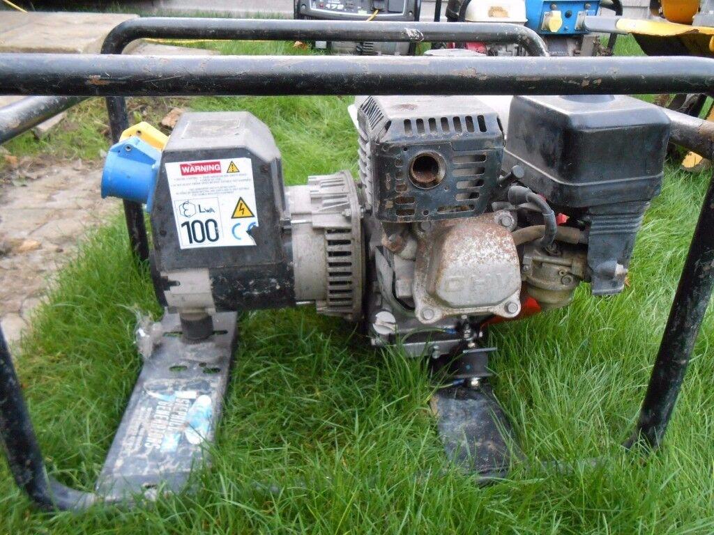honda GX160 generator 2.8KVA 240v /110v 16A