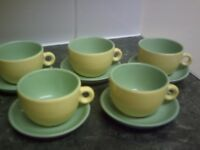 Brand New Espresso Coffee Cups and Saucers, Set of 4