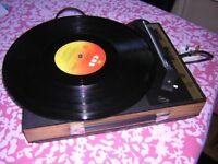 Fidelity Portable Record Player ...Serviced /checked + new Diamond /Sapphire Stylus