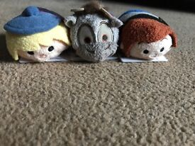 First edition frozen set of official Disney Store tsum tsums RARE