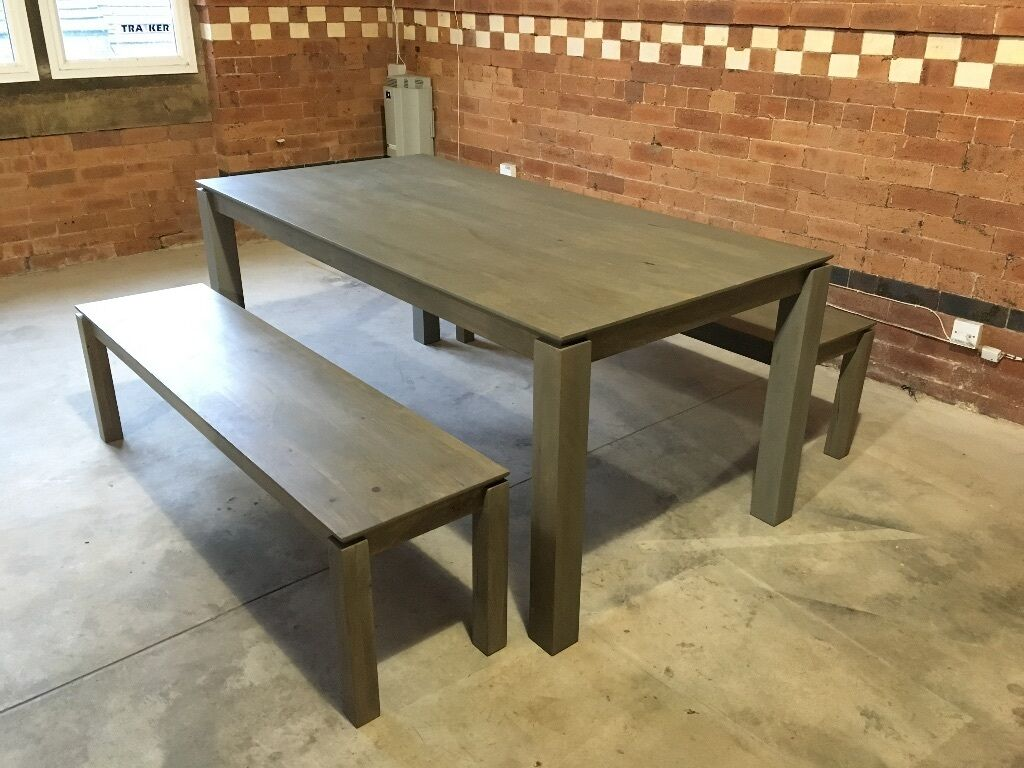 John Lewis Asha Wooden 6 Seater Dining Table And Benches RRP 900