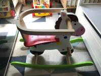 Rocking horse - made of solid wood
