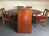Dining Table (extendable) & Chairs and Sideboard