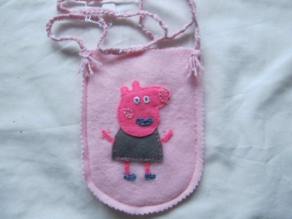Girls new Peppa pig small felt shoulder bag