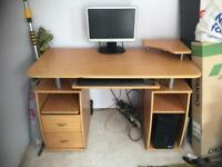 Computer desk with storage