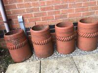 Terracotta chimneys - originals