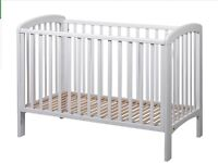 John Lewis Anna cot drop down side immaculate condition