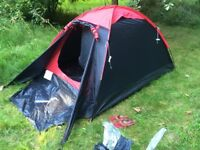 dome tent - two people - red/black