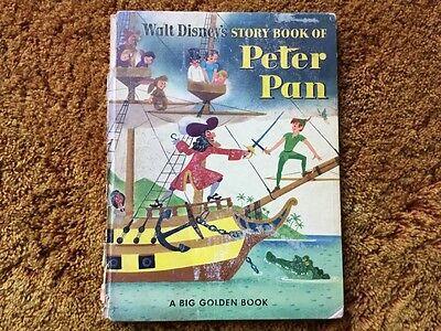 Rare, Walt Disney's Story Book of Peter Pan - a Big Golden Book - Vintage - 1953