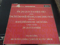 The Jacques Loussier Trio plays 'Bach's Brandenburg Concerto' LP
