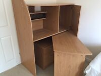 Fold out desk. Free to collector!