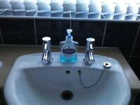 Bath and basin taps. £20 each or £35 for both. Excellent condition. Modern design.
