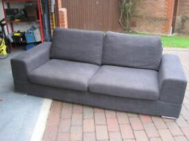Carcoal grey Dwell 3 seater sofa, in good condition
