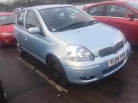 2004 04 Toyota yaris 1.0 Light Blue 5 door Very Low Mileage good condition