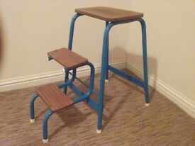 retro 1960's step stool
