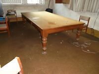 Large Victorian PINE Table