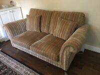 2 seater sofa and armchair. Partner Knoll stripe