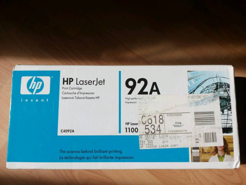 Brand new HP Laserjet Print Cartridge C4092A 92A sealed and boxed £10 each 2 available