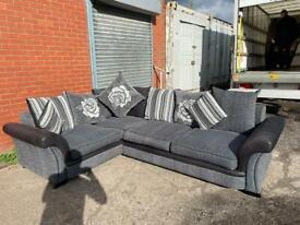 Grey & black Harvey's corner sofa delivery 🚚 sofa suite couch furniture