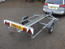 FULLY GALVANISED ARMITAGES MOTORCYCLE TRANSPORTER TRAILER...