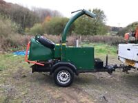 Entec towable diesel chipper