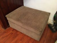 Extra Large Storage Footstool - fabric