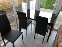 BRAND NEW Argos Glass Dining Table & Chairs