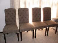 4 x 'STAG' cromwell upholstered dining chairs .... SUPERB QUALITY - AS NEW condition £275