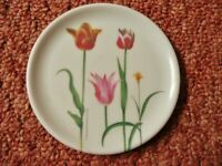 Royal Horticultural Society RHS Coaster Red Pink Yellow Tulip Floral Designs