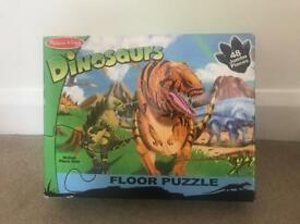 Melissa and Doug Dinosaur Floor Puzzle - 48 pieces